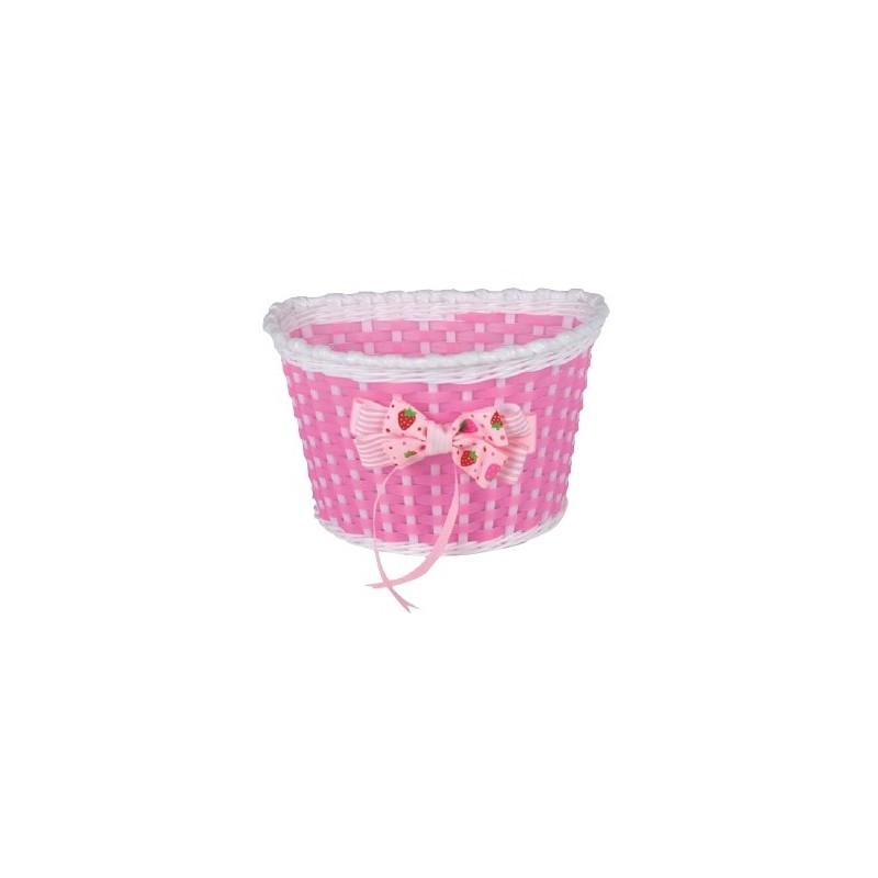 e4185f38a Doplnky | Košík predný plast, detský, ružovo/biely 81501079 ...